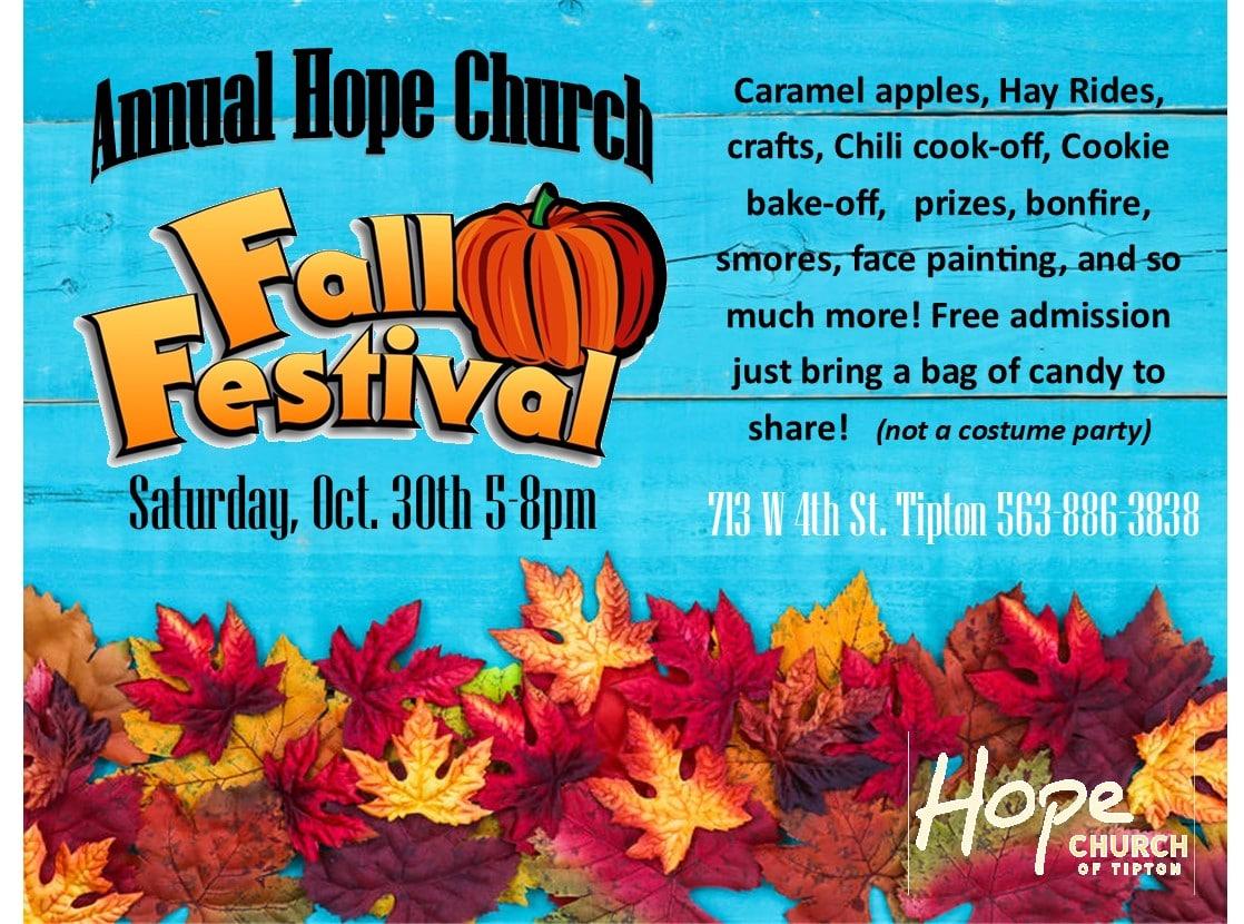 Annual Hope Church Fall Festival