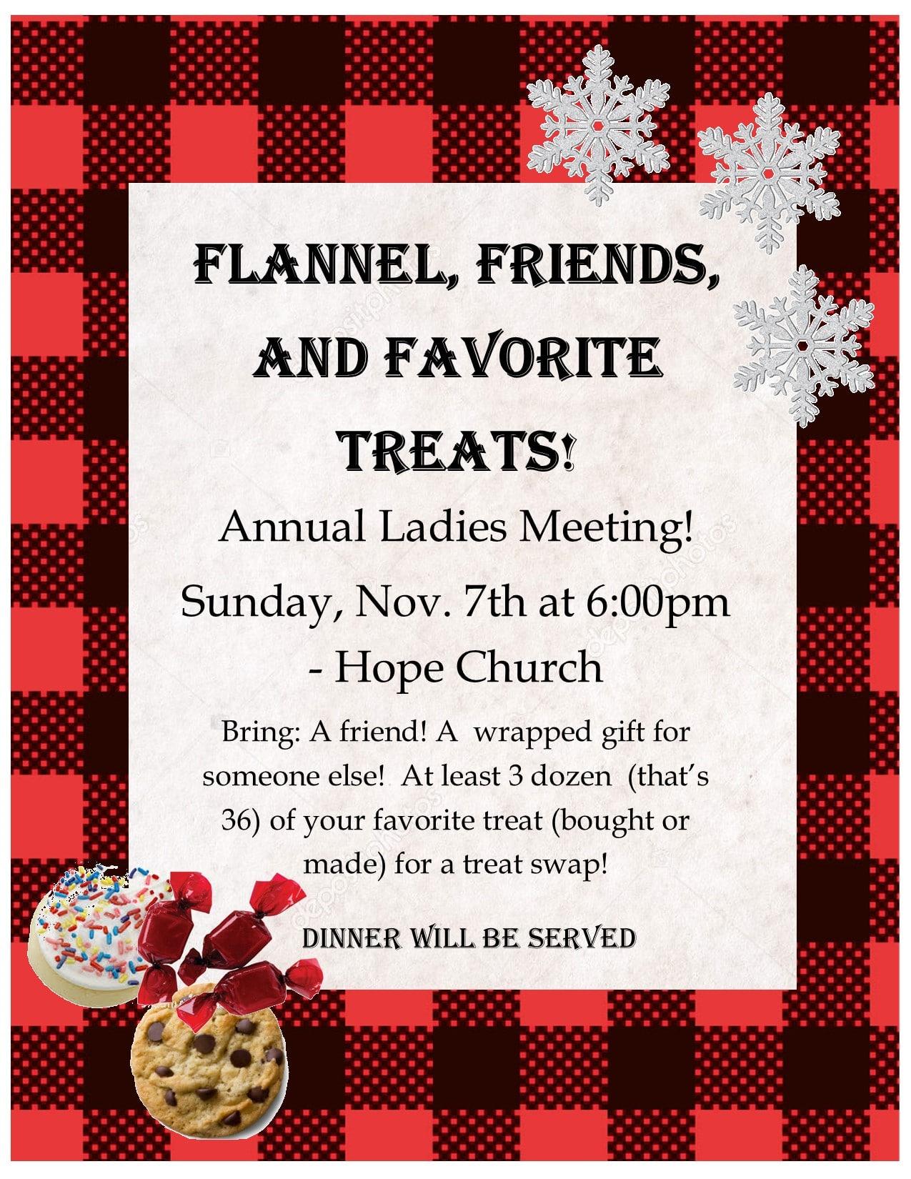Flannel, Friends & Favorite Treats